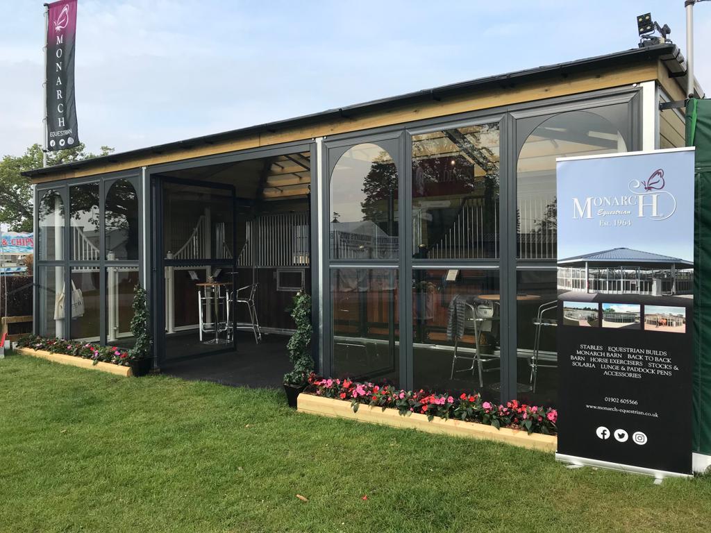 Monarch Equestrian show stand at Badminton Horse Trials
